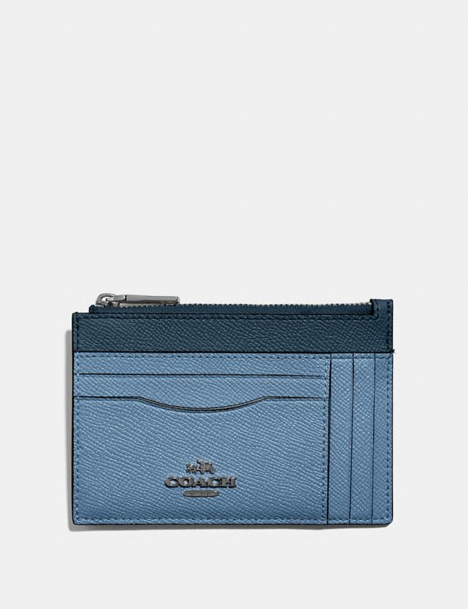 Coach Large Card Case in Colorblock Slate Multi/Gunmetal SALE Women's Sale 50% off