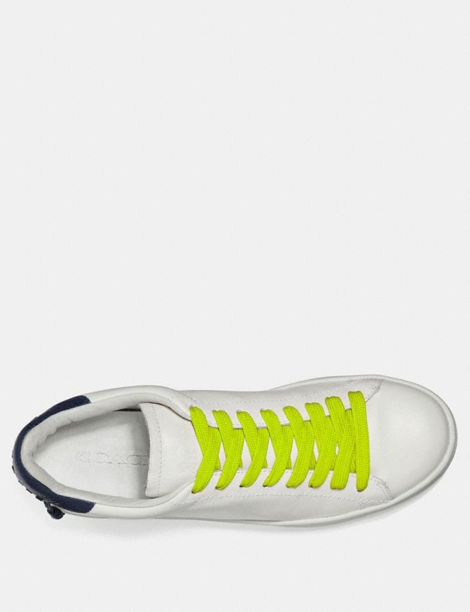 Coach Neon Shoe Laces Green Women Shoes Sneakers Alternate View 1
