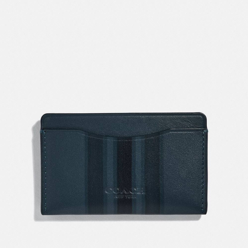 Coach Small Card Case With Painted Varsity Stripe