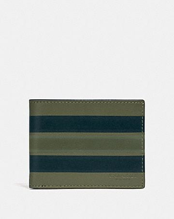964e3a0848299 SLIM BILLFOLD WALLET WITH PAINTED VARSITY STRIPE