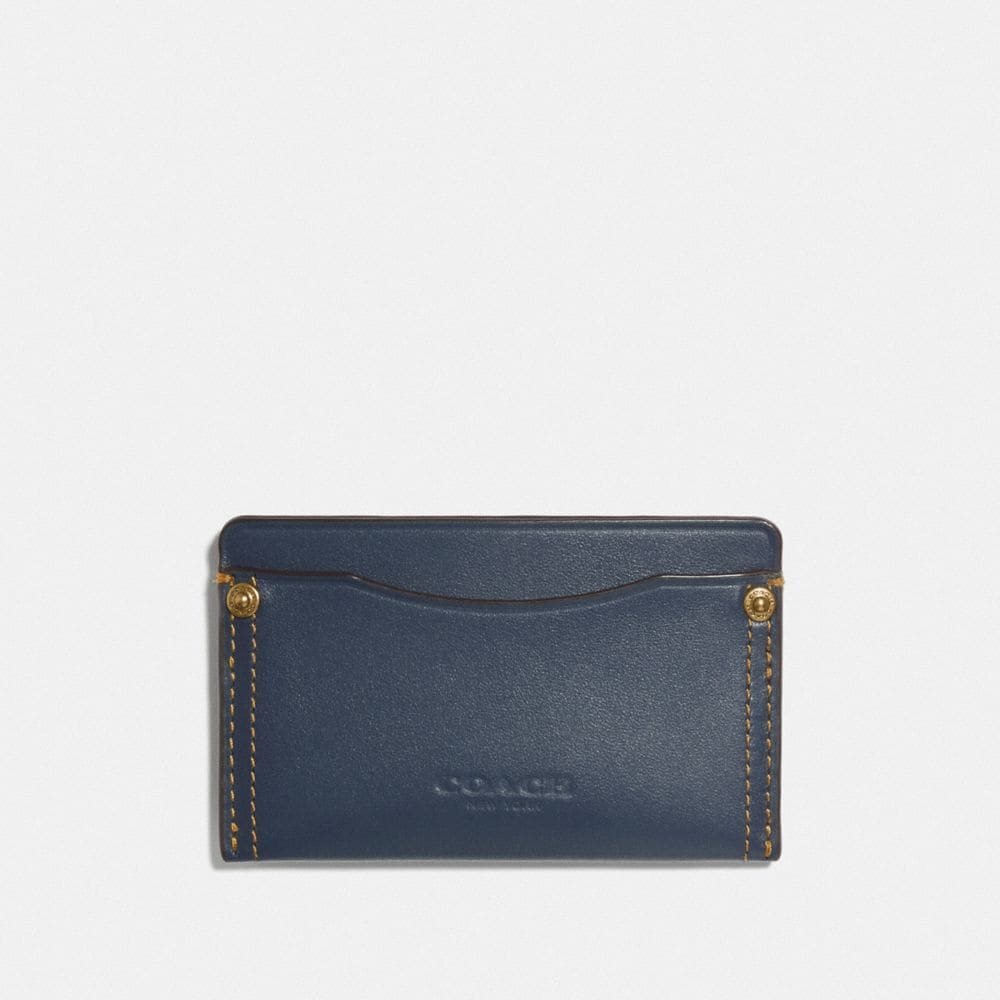 Coach Small Card Case With Rivets