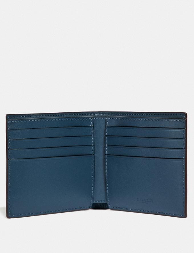 Coach Double Billfold Wallet With Rivets Denim Men Wallets Billfolds Alternate View 1