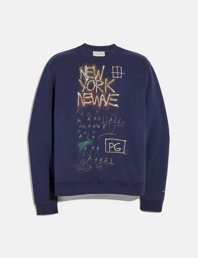 Coach Coach X Jean-Michel Basquiat Sweatshirt Blue Men Ready-to-Wear Tops & Bottoms