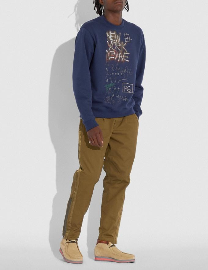 Coach Coach X Jean-Michel Basquiat Sweatshirt Blue Men Ready-to-Wear Clothing Alternate View 1