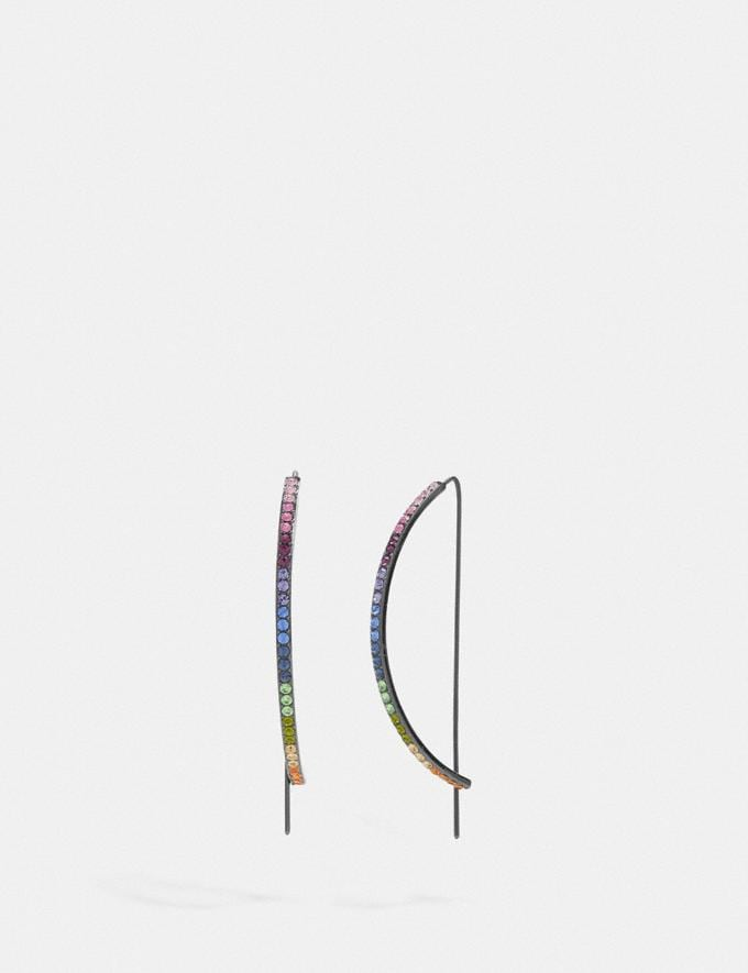 Coach Bar Drop Earrings Multi/Black Gifts For Her Under £100