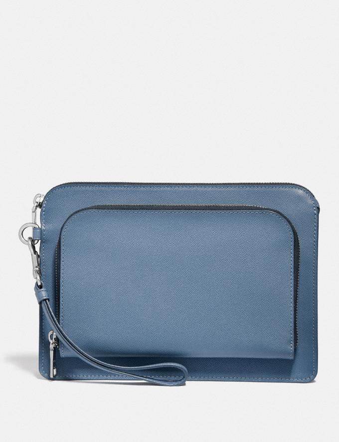 Coach Kennedy Pouch Light Denim Gifts For Him Valentine's Gifts