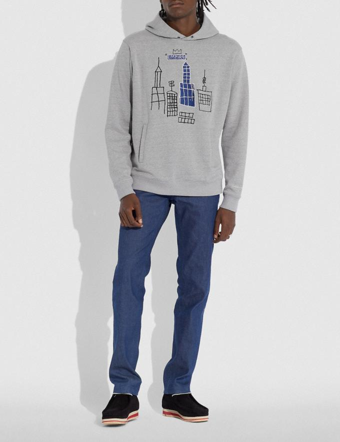 Coach Coach X Jean-Michel Basquiat Hoodie Heather Grey Men Ready-to-Wear Tops & Bottoms Alternate View 1