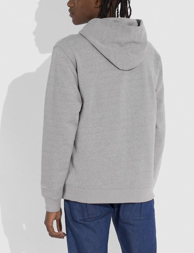 Coach Coach X Jean-Michel Basquiat Hoodie Heather Grey Men Ready-to-Wear Tops & Bottoms Alternate View 2