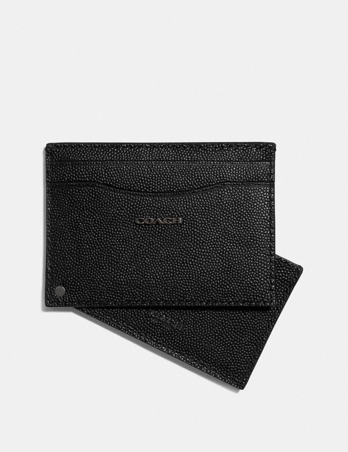Coach Swivel Card Case Black Gifts For Him Valentine's Gifts