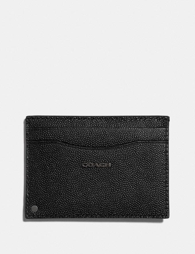 Coach Swivel Card Case Black Gifts For Him Valentine's Gifts Alternate View 1
