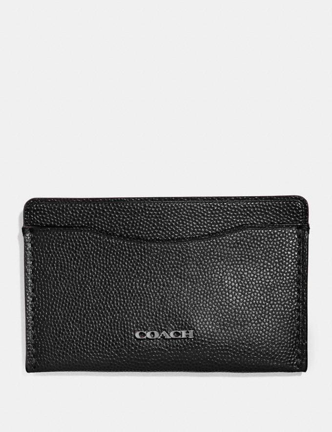 Coach Small Card Case Black New Featured Online-Only