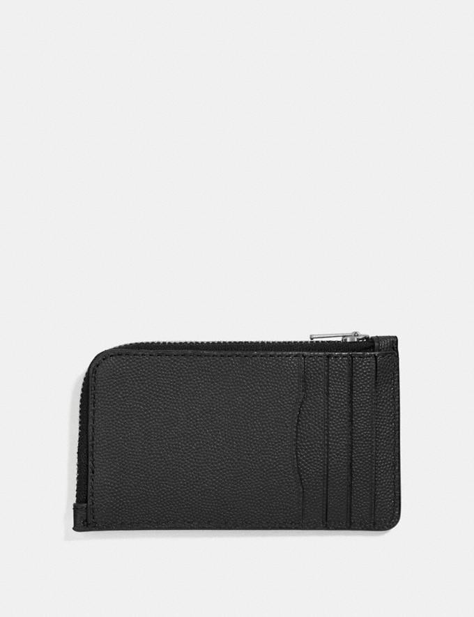 Coach L-Zip Card Case Black Customization Personalize It Monogram for Him Alternate View 1