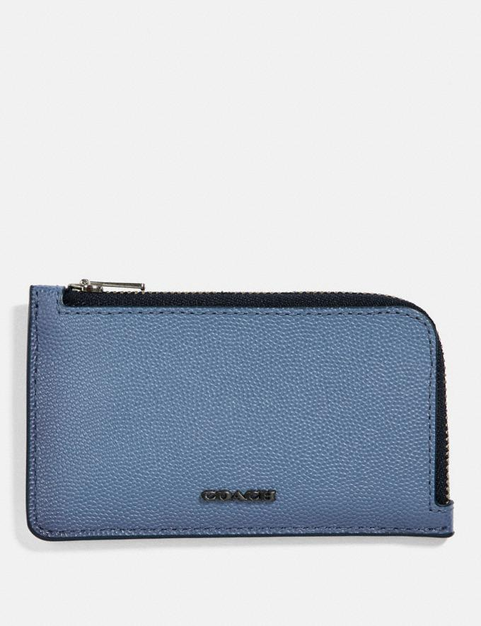 Coach L-Zip Card Case Light Denim