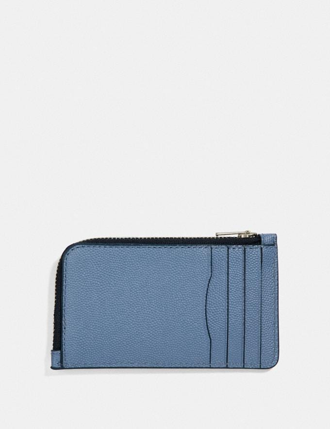 Coach L-Zip Card Case Light Denim  Alternate View 1