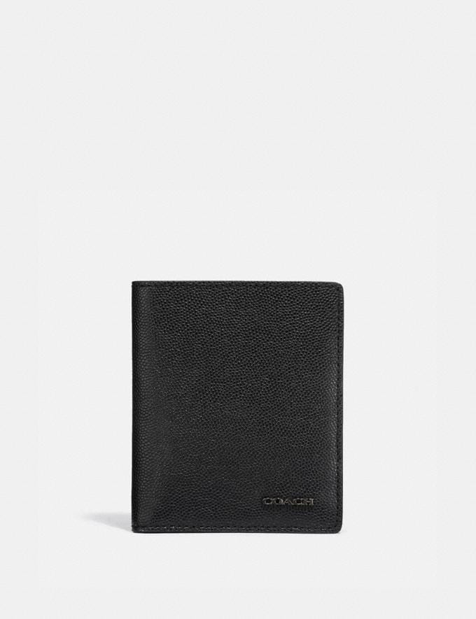 Coach Slim Wallet Black Men Wallets Billfolds