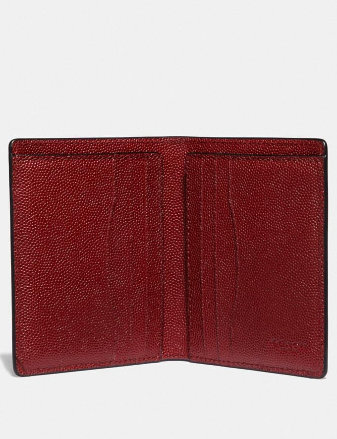 Coach Slim Wallet Red Currant Gifts For Him Valentine's Day Gifts Alternate View 1