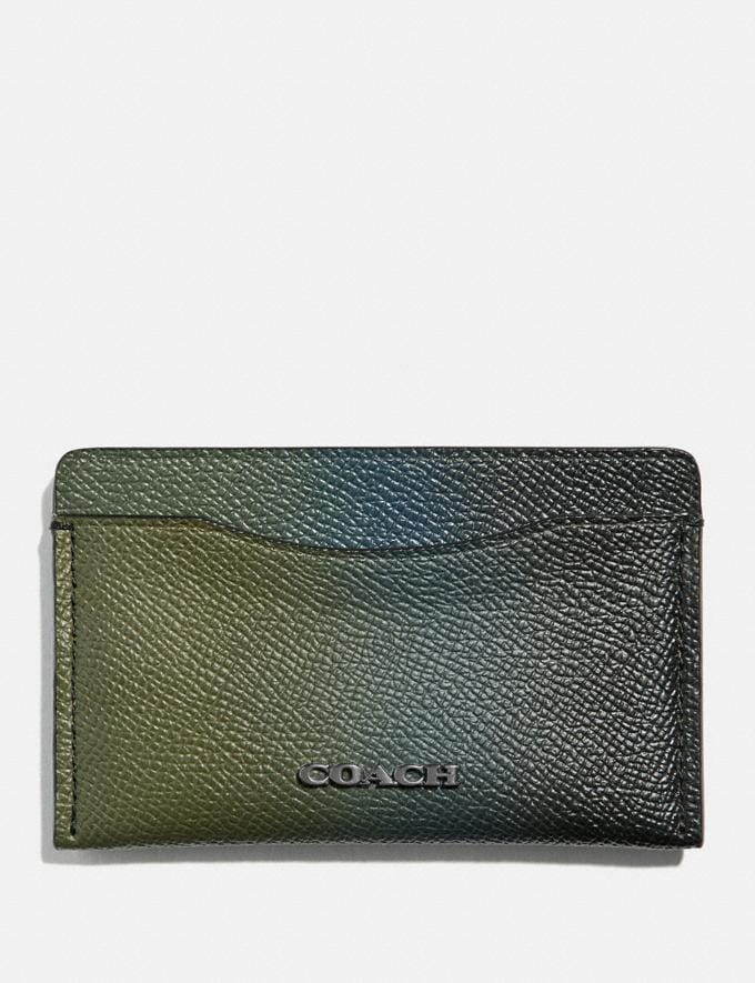 Coach Small Card Case Olive/Navy Men Wallets Card Cases