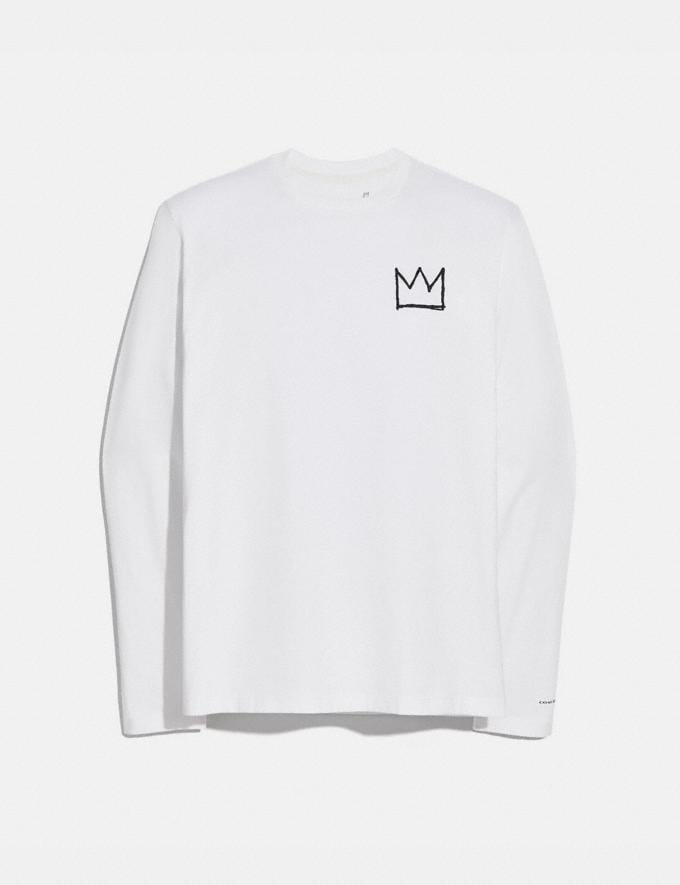Coach Coach X Jean-Michel Basquiat Long Sleeve T-Shirt White Men Ready-to-Wear Tops & Bottoms