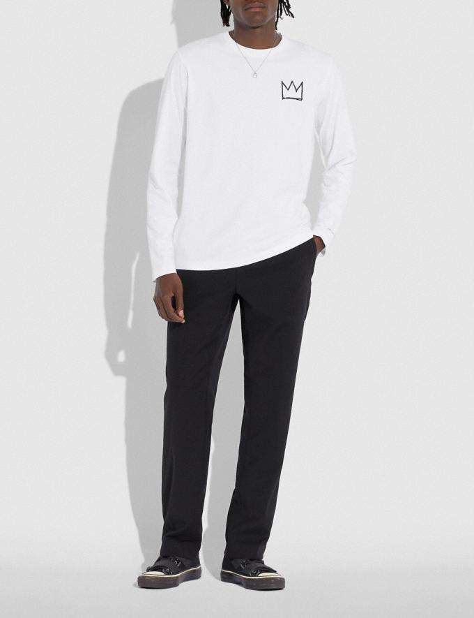 Coach Coach X Jean-Michel Basquiat Long Sleeve T-Shirt White Men Ready-to-Wear Tops & Bottoms Alternate View 1