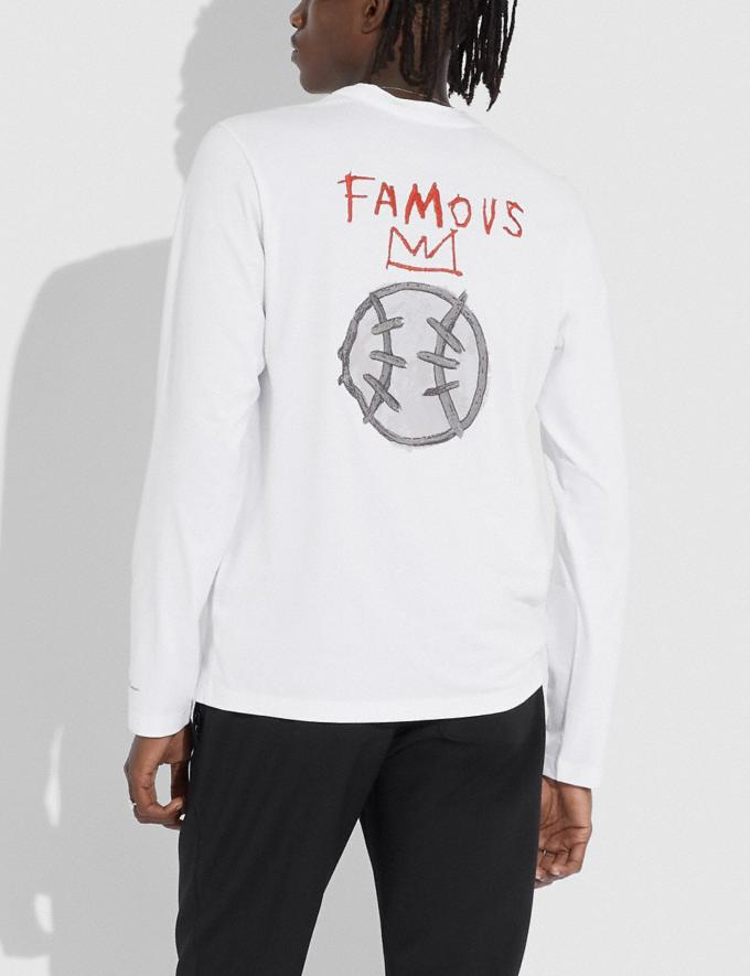 Coach Coach X Jean-Michel Basquiat Long Sleeve T-Shirt White Men Ready-to-Wear Tops & Bottoms Alternate View 2