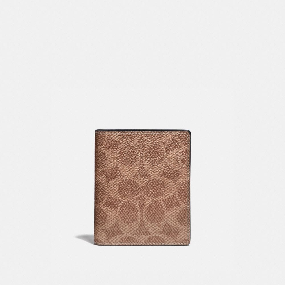 Coach Portefeuille Fin En Toile Exclusive