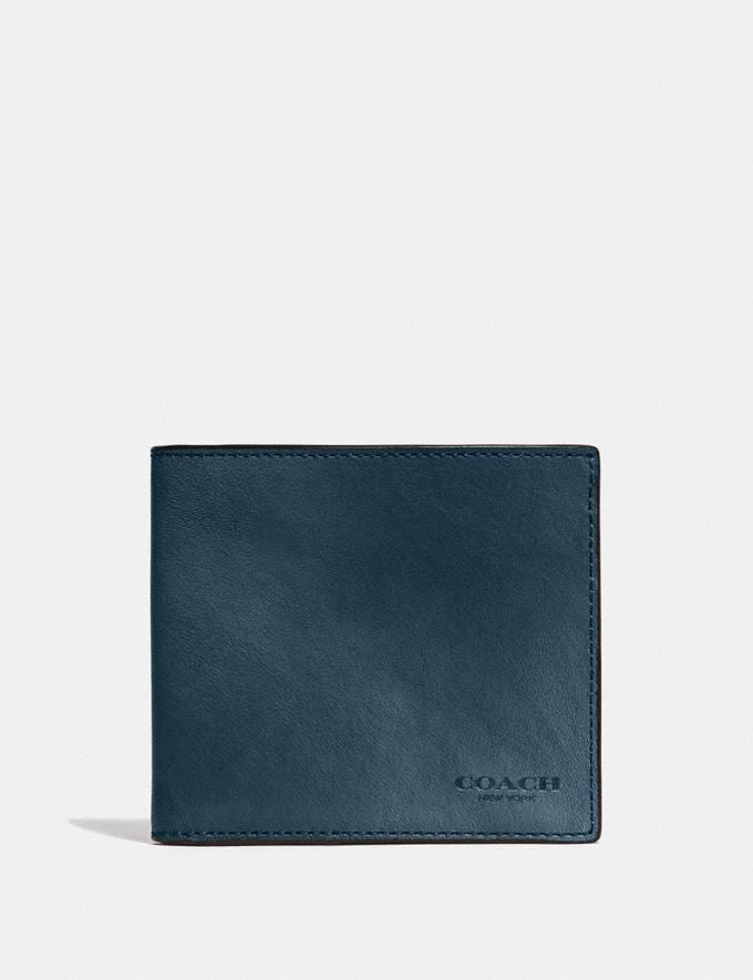Coach Double Billfold Wallet Denim Customization Personalize It Monogram for Him