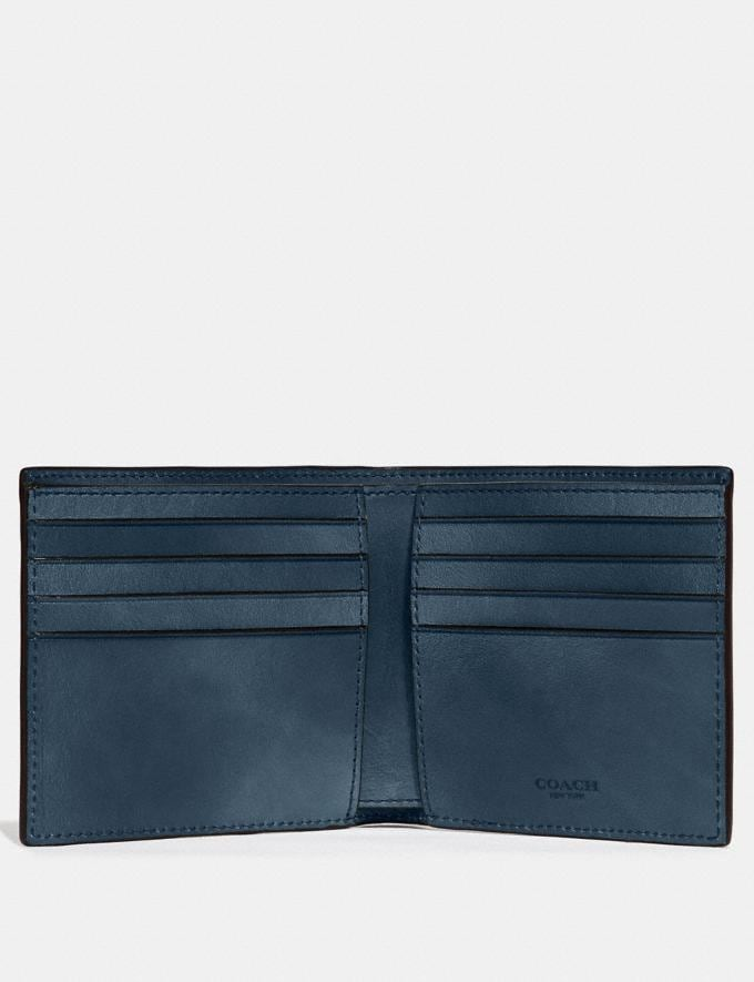 Coach Double Billfold Wallet Denim Customization Personalize It Monogram for Him Alternate View 1