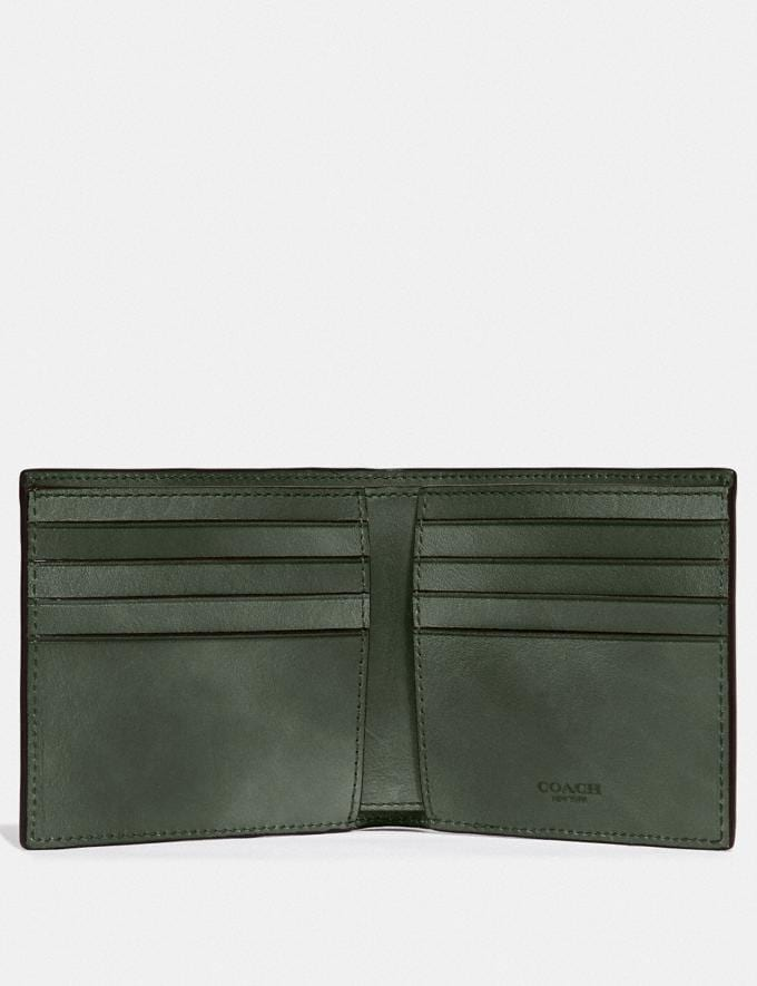 Coach Double Billfold Wallet Olive New Men's New Arrivals Wallets Alternate View 1