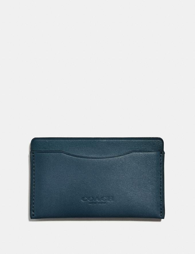 Coach Small Card Case Denim Men Wallets Card Cases
