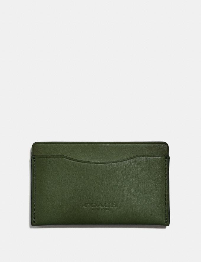 Coach Small Card Case Olive Men Wallets Card Cases