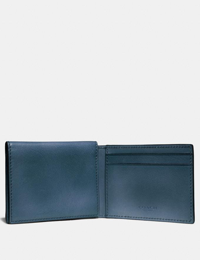 Coach Trifold Card Wallet Denim Men Wallets Alternate View 1