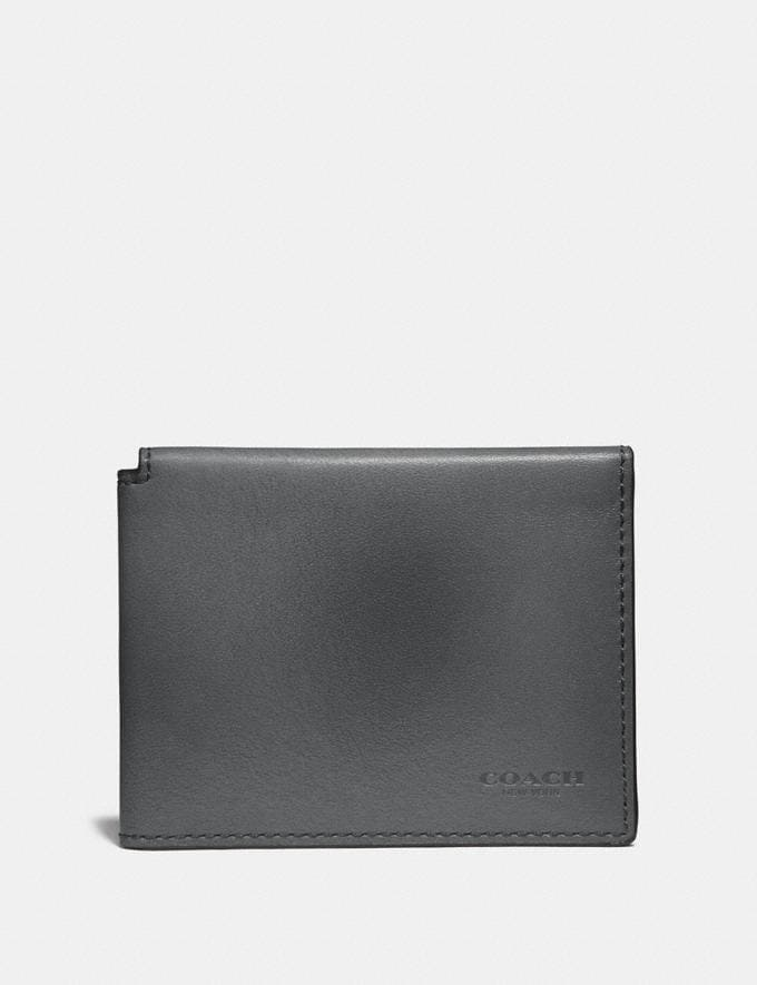 Coach Trifold Card Wallet Graphite SALE Men's Sale Further Reductions Bestsellers