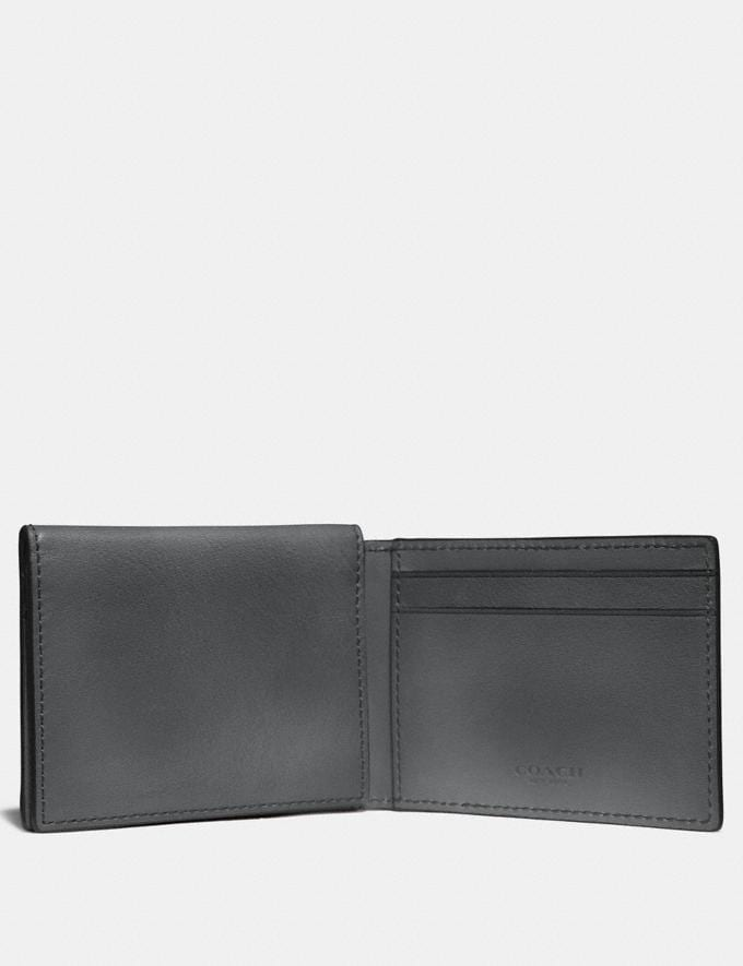 Coach Trifold Card Wallet Graphite SALE Men's Sale Further Reductions Bestsellers Alternate View 1
