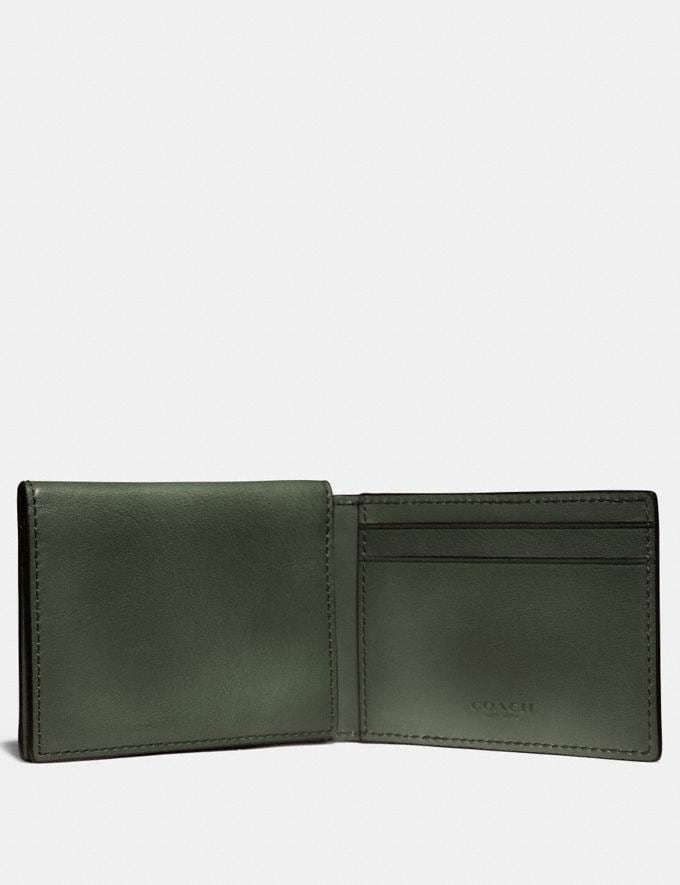 Coach Trifold Card Wallet Olive Gifts For Him Bestsellers Alternate View 1