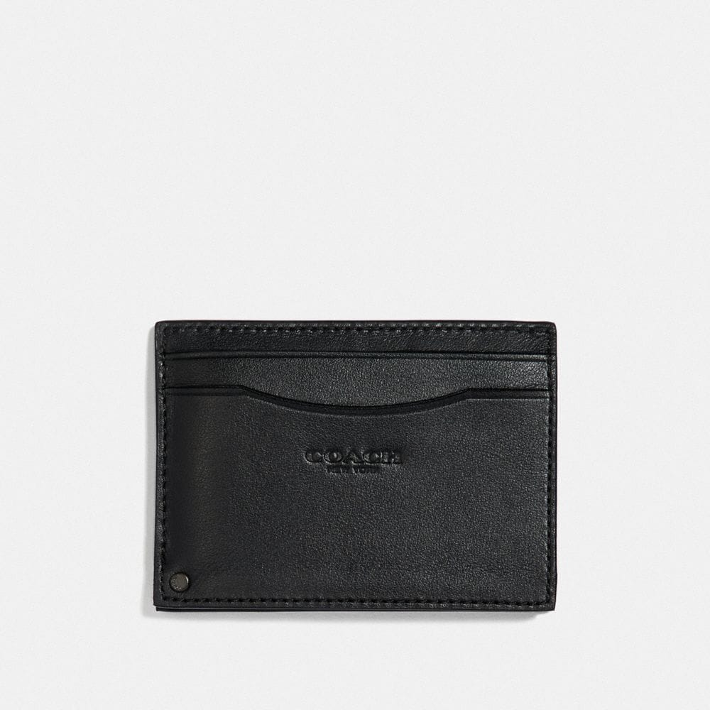 Coach Swivel Card Case With Signature Canvas Detail Alternate View 1