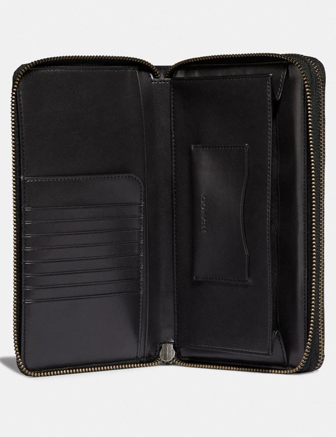 Coach Double Zip Travel Organizer Black Gifts For Him Bestsellers Alternate View 1