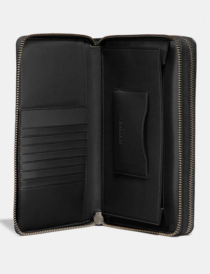 Coach Double Zip Travel Organizer in Signature Leather Black Men Accessories Travel Alternate View 1