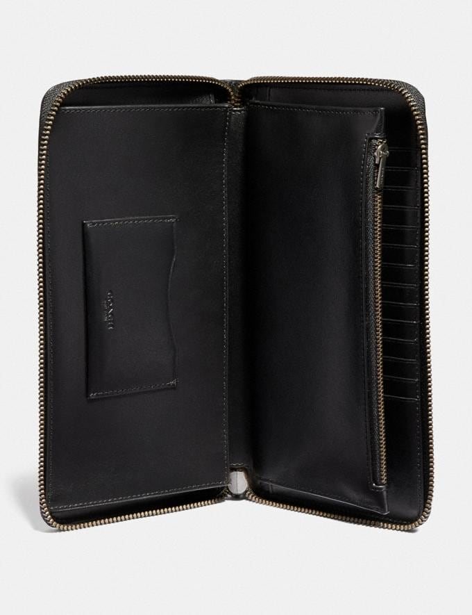 Coach Travel Wallet Black New Men's New Arrivals Accessories Alternate View 1