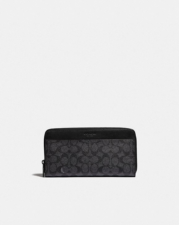 Coach TRAVEL WALLET IN SIGNATURE CANVAS