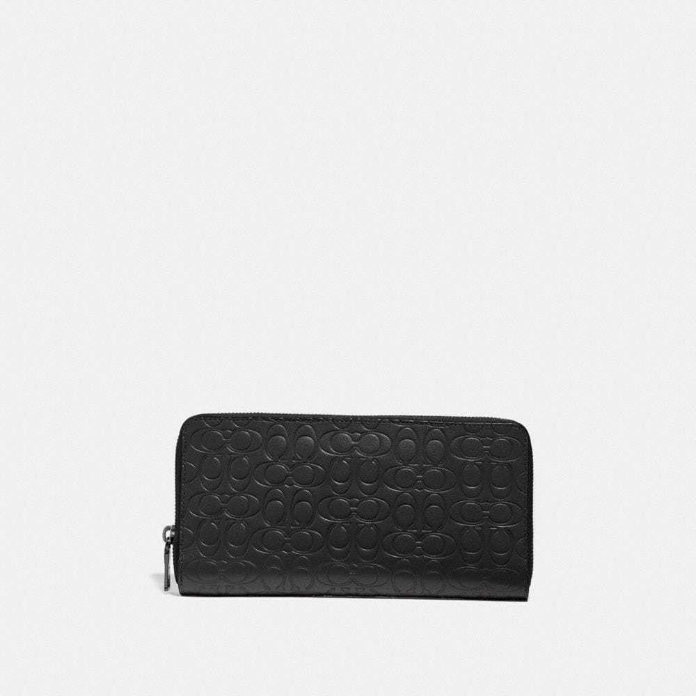 TRAVEL WALLET IN SIGNATURE LEATHER