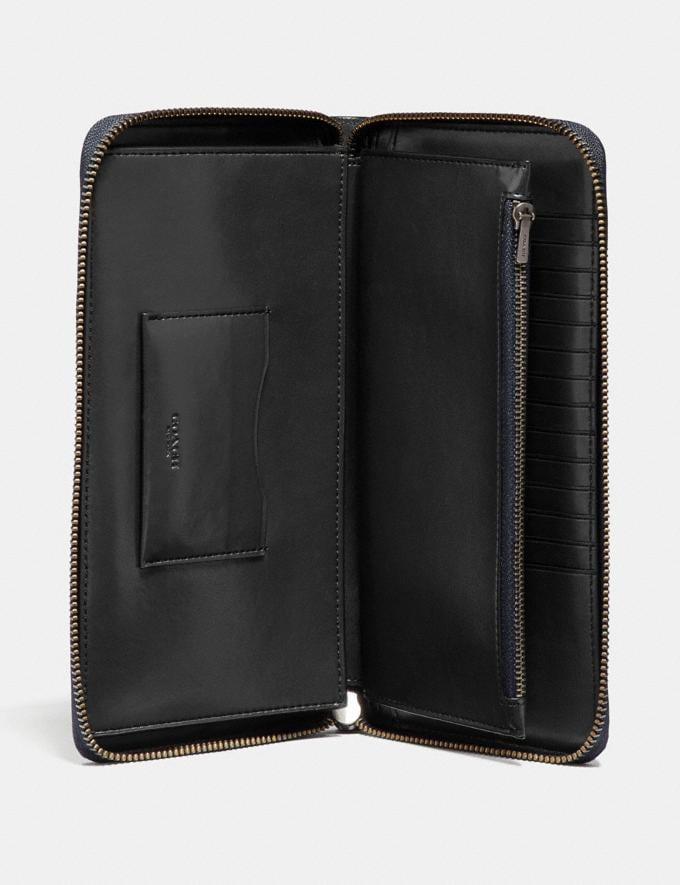 Coach Travel Wallet in Signature Leather Black Men Accessories Travel Alternate View 1