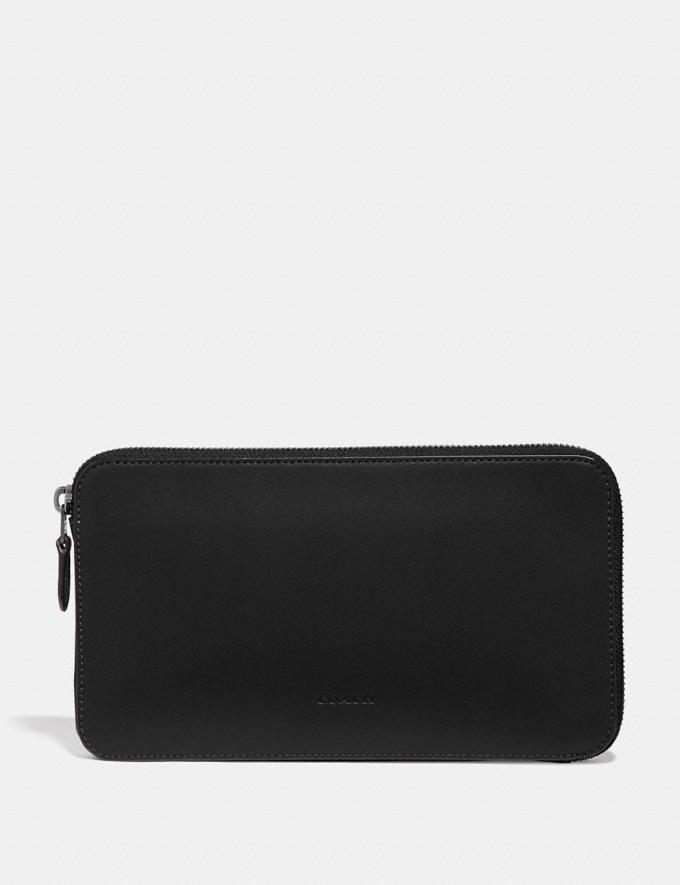 Coach Travel Guide Pouch Black Women Edits