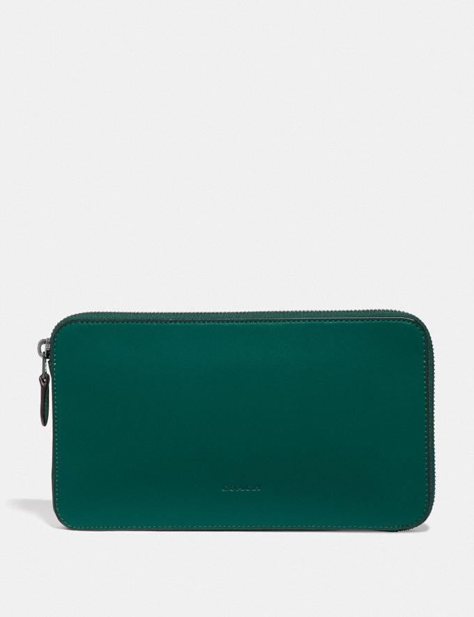 Coach Travel Guide Pouch Emerald Men Edits Your Life, Your Coach