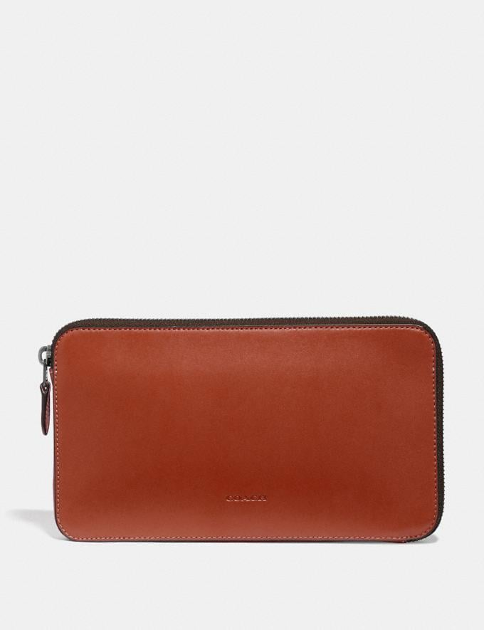 Coach Travel Guide Pouch Rust Men Edits Work
