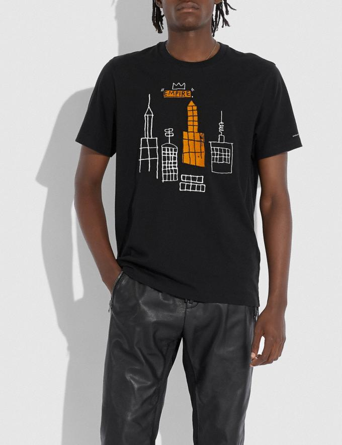 Coach Coach X Jean-Michel Basquiat T-Shirt Black Men Ready-to-Wear Tops & Bottoms Alternate View 1