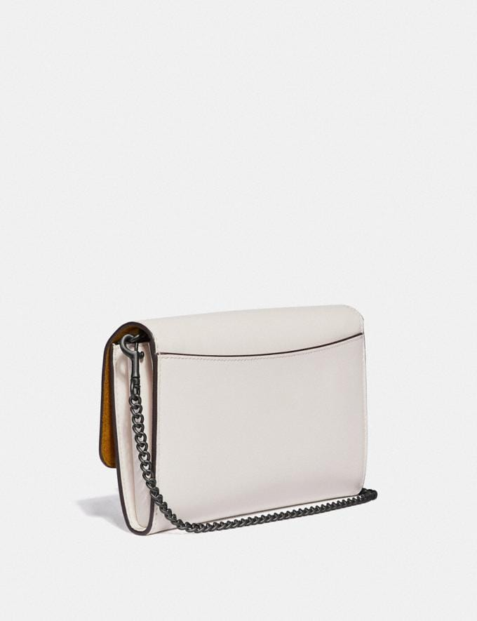 Coach Marlow Turnlock Chain Crossbody With Floral Embroidery Chalk/Pewter Women Bags Crossbody Bags Alternate View 1