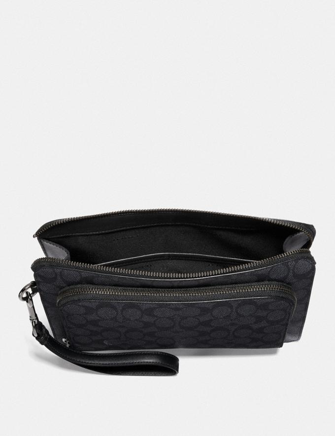 Coach Kennedy Pouch in Signature Canvas Charcoal  Alternate View 2