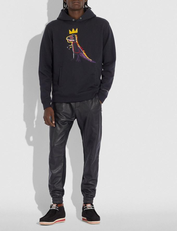 Coach Coach X Jean-Michel Basquiat Hoodie Black Men Ready-to-Wear Tops & Bottoms Alternate View 1