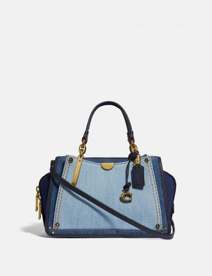 Coach Dreamer 21 in Colorblock Denim/Brass New Featured Selena Gomez in Coach