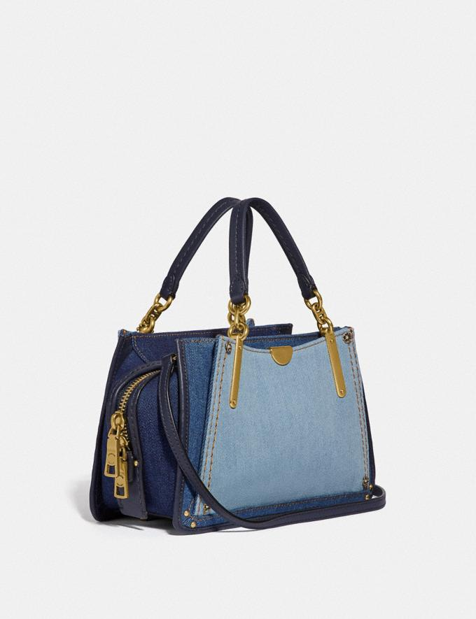 Coach Dreamer 21 in Colorblock Denim/Brass New Featured Selena Gomez in Coach Alternate View 1
